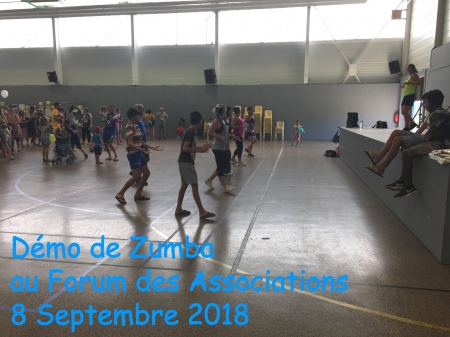 Démo Zumba au Forum des Associations 2018